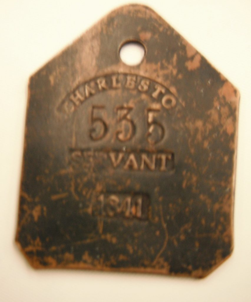 Servant tag from 1800's